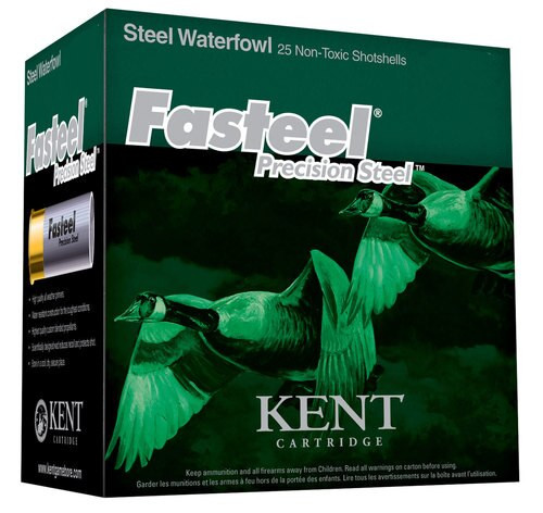 "Kent Fasteel Waterfowl 20 Ga, 3"", 1oz, 3 Shot, 1250fps, 25rd/Box"