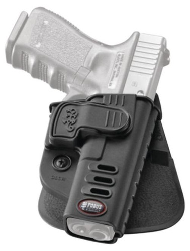 Fobus CH Rapid Release System Level 2 Belt Holster, Glock 17/19/22/23/31/32/34/35, Black, Right Hand