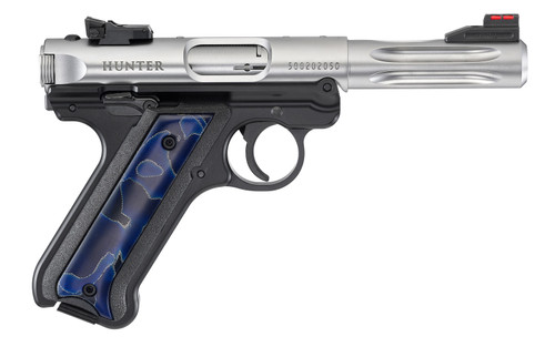 "Ruger MKIV Hunter Raffir Grip TALO Edition .22 LR, 4.5"" Barrel, 10rd Mag, Stainless, Limited Edition 1 of 1000"