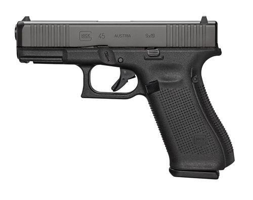"""Glock G45 Gen5, 9mm, 4.02"""" Barrel, 10rd, MOS, Black"""