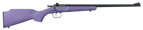 Crickett Single Shot Synthetic 22 WMR, Purple Synthetic Stock, Blued, 1rd
