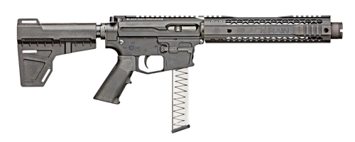 "Black Rain Fallout CQB Pistol 9mm, 8.75"" Barrel, Rear-Charging, Black, Shockwave Blade Brace"
