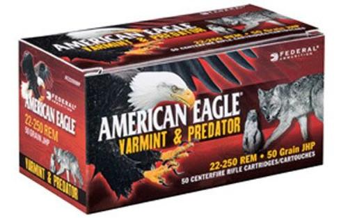 Federal American Eagle 22-250 Rem 50gr, JHP, 50rd/Box