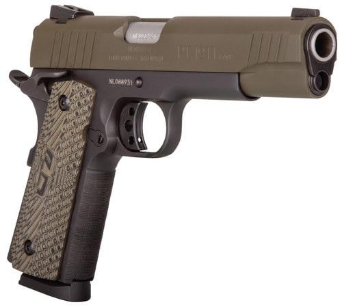 "Taurus 1911, .45 ACP, 5"" Barrel, 8rd, Brown CZ Grip, OD Green"