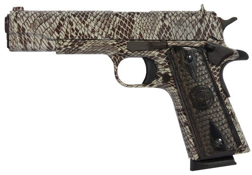 """Iver Johnson 1911 A1 Government, .45 ACP, 5"""", 8rd, Copperhead Snakeskin"""