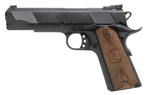 "Iver Johnson 1911 A1 Eagle, .45 ACP, 5"", 9rd, Walnut Grips, Matte Black"