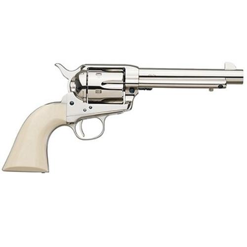 "Uberti 1873 Cattleman Cody, .45 Colt, 5.5"", 6rd, Ivory  Grips, Full Nickel-Plated"