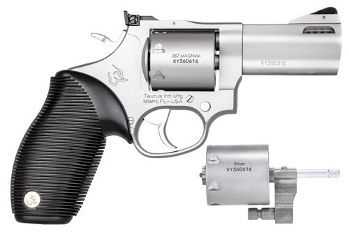 "Taurus 692 Standard Revolver, .357/.38,/9mm, 3"" Barrel, 7rd, Stainless Finish"