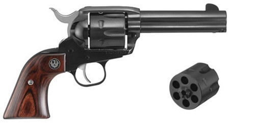 "Ruger Vaquero 357 Mag/9mm, 4.62"" Barrel, Hardwood, Blued, 6rd"