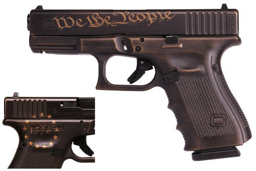 Glock 19 Gen 4 Preamble Special Edition We the People 1776 9mm, 3x15rd Mags