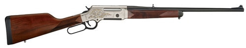 "Henry Long Ranger Deluxe .308/7.62, 20"" Barrel, Checkered Straight Grip Stock, Nickel Plated /w 24K Gold Inlay, 4rd"