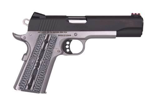 """Colt Competition Govt 38 Super, 5"""" Barrel, Black Slide, SS Framel, 9rd Mag"""