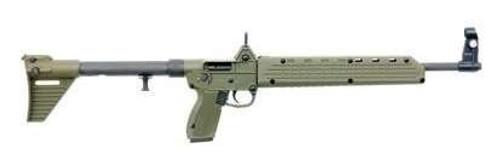 Keltec Sub-2000 9mm Glock 17, Blued, Green Furniture