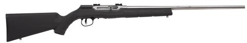 "Savage A22 FSS .22 LR, 22"" Barrel, Synthetic Black Stock, Stainless Steel, 10rd"