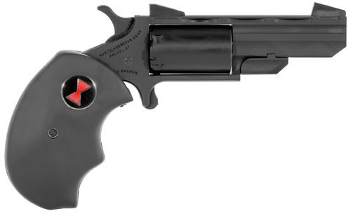 "NAA Black Widow .22 Mag, 2"" Barrel, Black Oversized Rubber Grip, Black, 5rd"