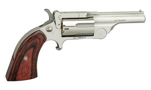 """NAA Ranger II .22 WMR, 1.63"""" Barrel, Rosewood Bird's Head Grips, Chrome, 5rd"""
