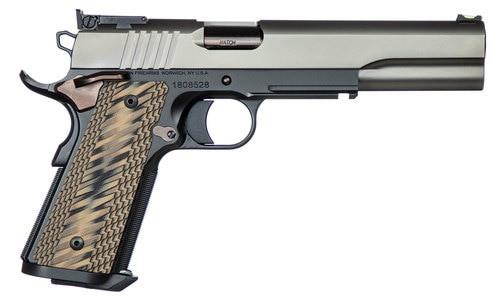 "Dan Wesson Kodiak 10mm, 6.03"" Barrel, Brown G10 Grips, Duty Finish Stainless Steel Slide, 8rd"