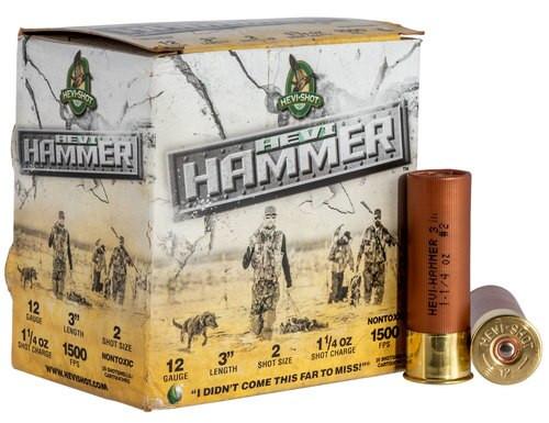 """HEVI-Shot Hammer 12 Ga, 3"""", 2 Shot, 1 1/4oz, 25rd/Box"""