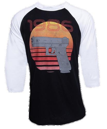Glock Retro 1986 Short Sleeve Shirt, Size XL, Black/White