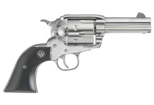 """Ruger Vaquero Shorty Pack Gun .44 Magnum/44 Spec, 3.75"""" Barrel, Stainless Steel Frame, Wood Grip, 6 Shot"""
