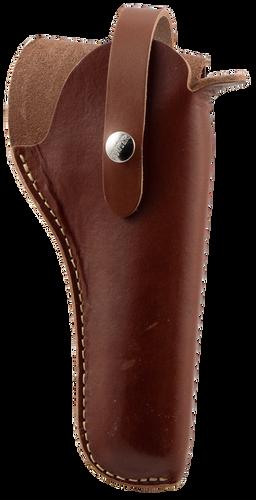 """Hunter VersaFit 3.5-5"""" Barrel Single Action Revolver, Leather Brown"""