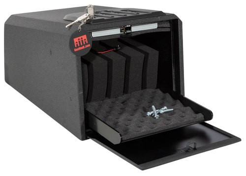 "Gunvault MiniVault 2050 Gun Safe Mechanical Illuminated Keypad/Key 16 Ga Steel Black 8.125"" x 10.125"" x 14"" (Exterior)"