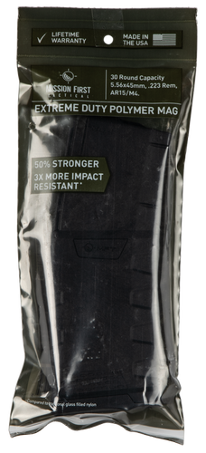 Mission First Tactical Extreme Duty AR-15 Mag 223/5.56mm, Black Finish, Polymer, 30rd