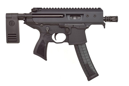 "Sig MPX Copperhead Pistol 9mm, 3.5"" Barrel, Pistol Contour Brace, Black, 30rd"