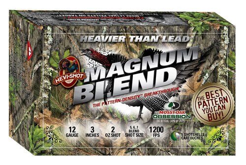 "HEVI-Shot Magnum Blend 12 Ga, 3"", 2oz 5,6,7 Shot, 5rd/Box"