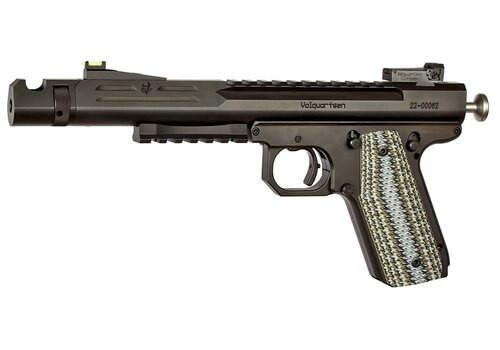 "Volquarsen Scorpion .22 WMR, 6"" Barrel, Hi-Viz Front/Tritium Rear, Predator Green VZ Grips, Black, 9rd"