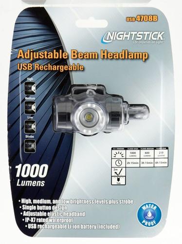 Bayco Nightstick USB Headlamp 1000L Adjustable Beam