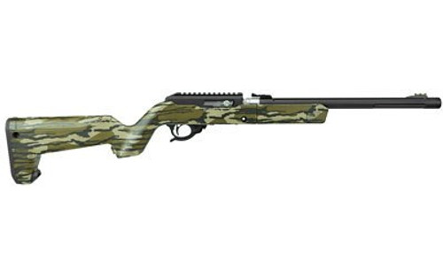 Tactical Solutions X-Ring Takedown VR, Magpul X-22 Backpacker Stock, Matte Black Takedown Action Featuring Mossy Oak Bottomland Stock 22LR