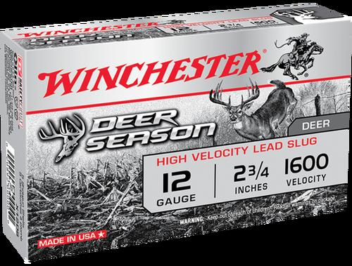 "Winchester Deer Season High Velocity 12 Ga, 2.75"", 1 1/4oz, 5rd/Box"