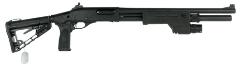 "Wilson Combat CQB Pump 12 Ga, 18.5"" Barrel, 3"", Super-Stoc Carbine Collapsible, Black Parkerized Armor-Tuff, 6rd"