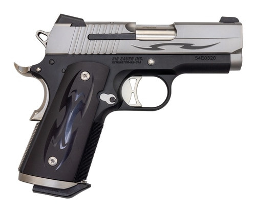 "Sig 1911 Tribal Ultra Compact .45 ACP, 3.3"" Barrel, Custom Tribal Grips, Night Sights,  2 x 7rd Mag"