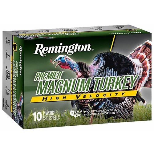 "Remington Premier High Velocity Magnum Turkey Loads 12 Ga, 3"". 5 Shot 1-3/4oz, 1300Fps, 5rd Box"