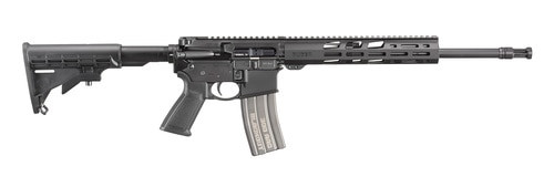 "Ruger AR-556 300 Blackout, 16"" Barrel, Anodized Black, 6 Pos Coll Stock, M-LOK Handguard, 30rd"