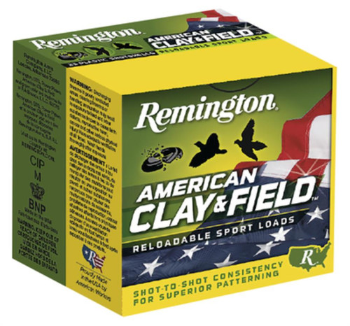 "Remington American Clay & Field 12 Ga 2.75"" 1200 FPS 1.125oz 7.5 Shot, 250rd/Case (10 Boxes of 25rd)"