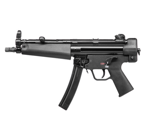 """HK SP5, Semi-automatic, 9mm, 8.9"""" Barrel, Aluminum Frame, Black, 30 Round, 2 Mags, Threaded, Ambidextrous Safety"""