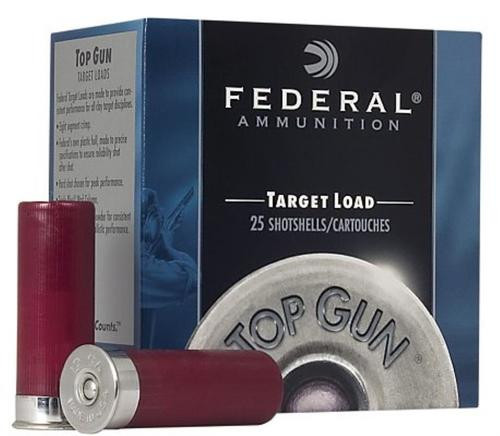 "Federal Top Gun Target 12 GA, 2.75"", 1-1/8oz, 7.5 Shot, 25rd/Box"