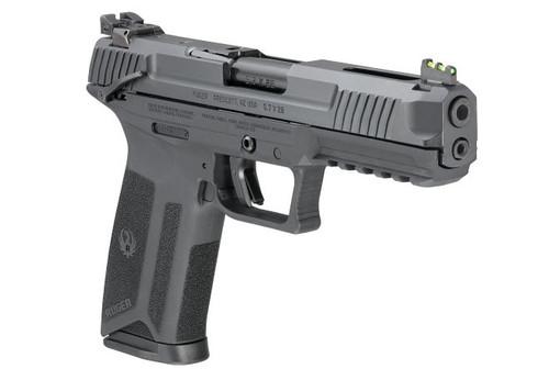 "Ruger-57 5.7x28mm, 4.9"" Barrel, Fiber Optic Front, Black, 20rd Mag"