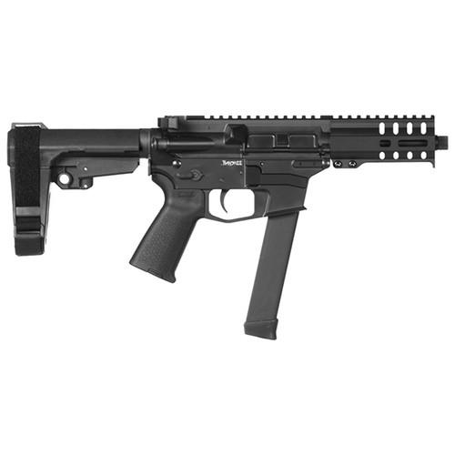 "CMMG Banshee 300 MKGS 9mm, 5"" Barrel, Titanium, Black Magpul, RipBrace, 33rd"