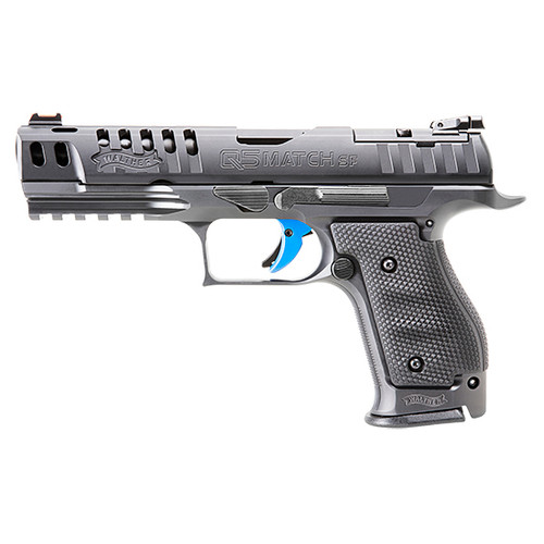 """Walther PPQ Q5 Match 9mm, 5"""" Barrel, Ported Slide, 3 Auto Safety, FO Front, Black, 17rd"""