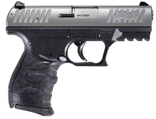 """Walther CCP M2 .380 ACP, 3.54"""" Barrel, Black/Stainless, 8rd"""