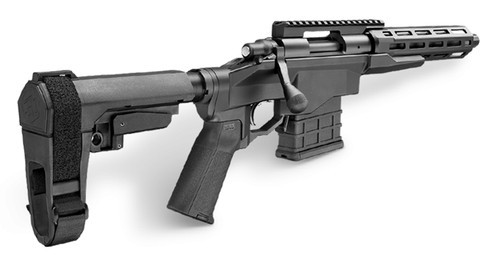 "Remington 700-CP, Bolt, 6.5 Creedmoor, 12.5"", Alloy, Black, 10Rd, Threaded, M-Lok, Thumb Safety, Pistol Brace included"