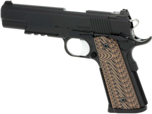 """Dan Wesson Specialist 10mm, 5"""" Barrel, Black Stainless, Brown G10, 8rd"""