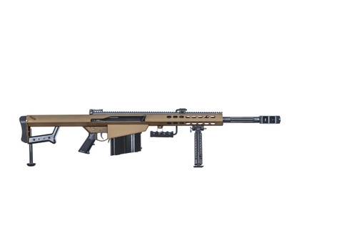 "Barrett 82A1 50BMG, 20"" Fluted Barrel, Coyote Finish, Carry Case, Monopod, 10rd"