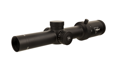 Trijicon Credo HX 1-4x24 2nd Focal Plane, Red Standard Duplex, 30mm Tube, Satin Black, Low Capped Adjusters
