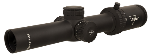 Trijicon Credo 1-4x24 2nd Focal Plane, Red BDC Segmented Circle .223 / 55gr, 30mm Tube, Matte Black, Low Capped Adjusters