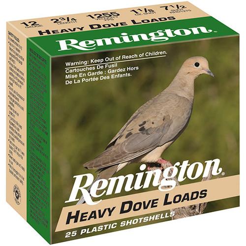 "Remington Heavy Dove Loads 12 Ga, 2 3/4"", 7 1/2"" Shot, 1 1/8oz, 25rd Box"